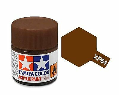 Tamiya 81764 XF-64 Red Brown 10ml Acrylic Flat Paint Color Mini Bottle Model