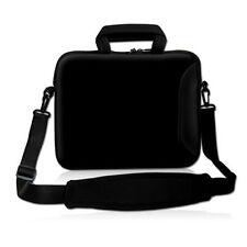 """BLACK 17"""" 17.3"""" Laptop Carrying Bag Sleeve Case w. Side Pocket Shoulder Strap"""