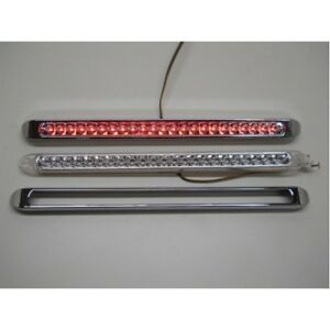 Turn /& Tail Light Bar W//Bezel Red LED//Clear Lens United Pacific 37513 23 LED 17 1//4 Reflector Stop