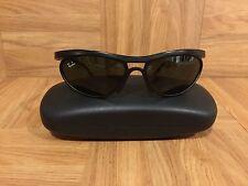 VTG!🔥 1980's Ray Ban Sport Sunglasses Black Wrap Around Bausch & Lomb USA