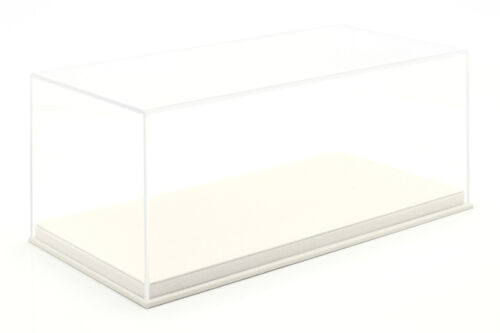 Hochwertige Acryl Vitrine mit Alcantara Bodenplatte für Modellautos im Maßstab