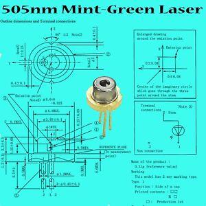 Sharp-505-35-mV-diodo-laser-verde-agua-5-6-mm-marca-las-PC-new-1