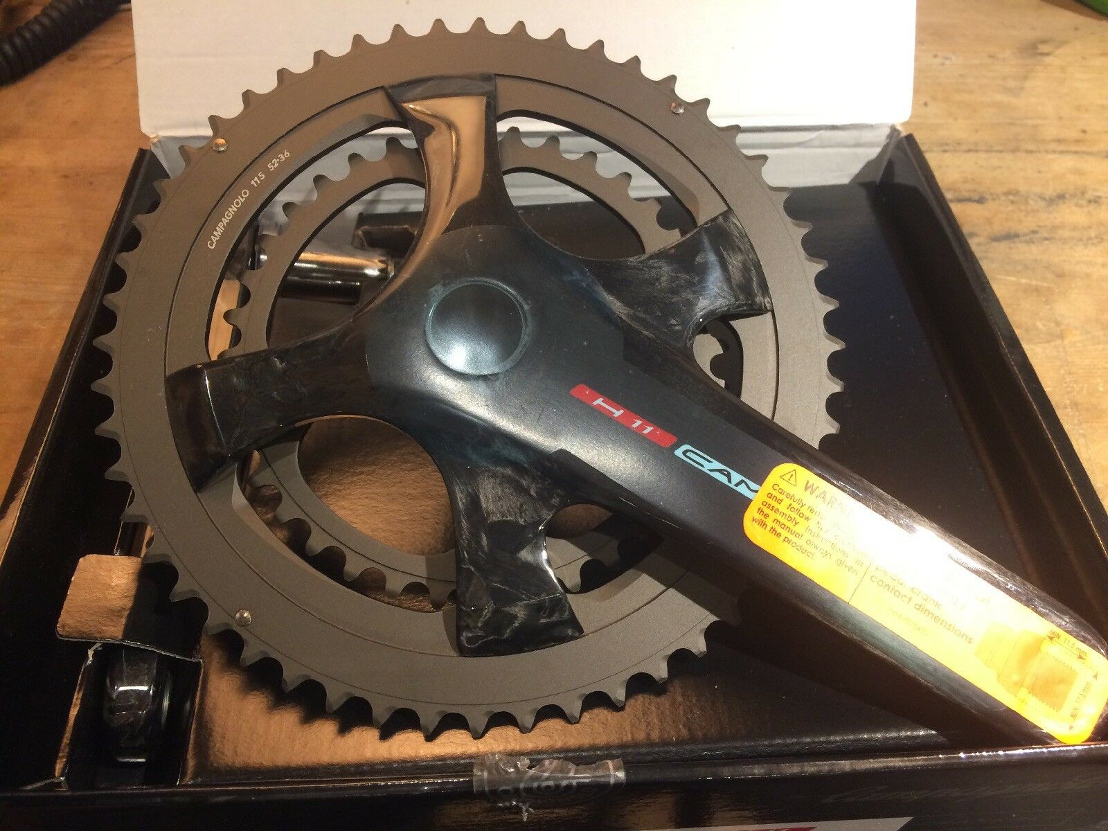 Campagnolo H11 Ultra Torque Road Bike Chainset   172.5mm Crank Length   52 36T