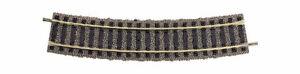 raggio 483,5mm gradi 1  con massiciata 6131 Fleischmann HO Binario curvo R 3
