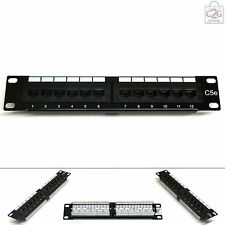 "10"" Cat5E 12 Port RJ45 Patch Panel Miniline SOHO UTP Ethernet Network Data Lan"