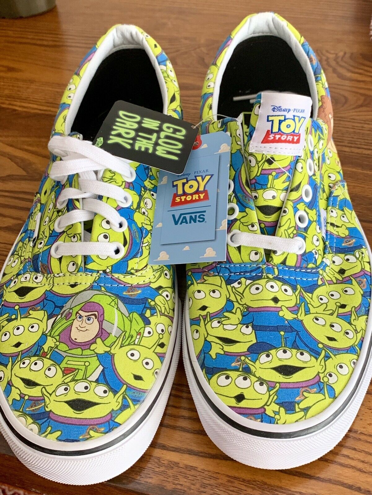 """VANS - RARE  Limited Edition TOY STORY  """"glow in the dark"""" US Men 13"""