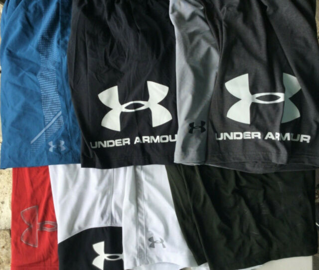 Under Armour Fitness Athletic Shorts New Tags Men Blue Gray Green 10 inch inseam