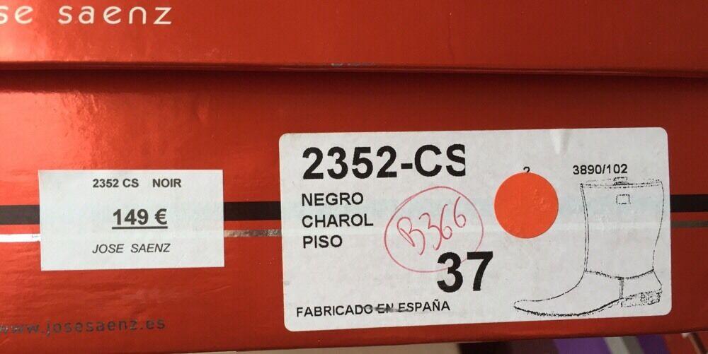 DESTOCKAGE NEUF BOTTES MARQUE JOSE SAENZ CUIR DECOLORE NOIR @ @ T 37 @  @ @ N366 af3a2b