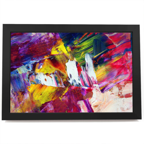 AB425 Colourful Cool Funky Modern Abstract Framed Wall Art Large Picture Prints