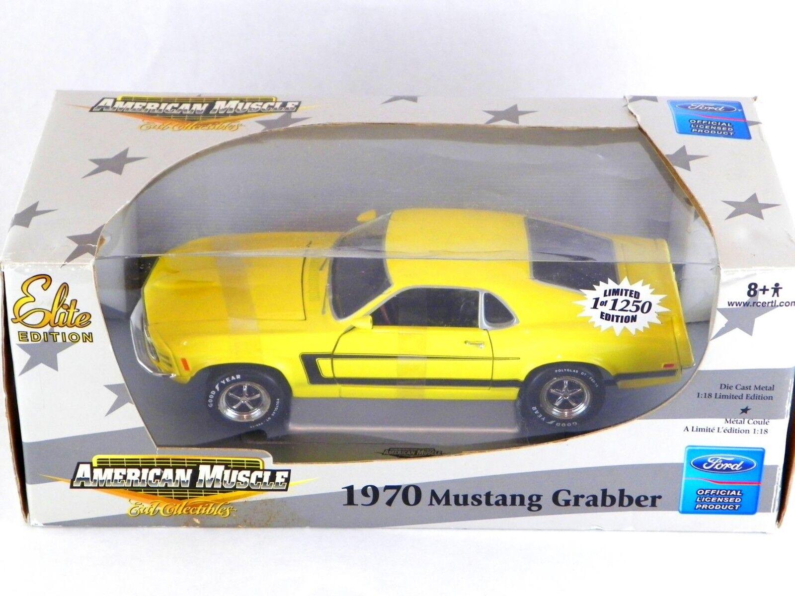 Ford Mustang ERTL Grabber Elite begränsad Edition Die Cast bil Replica 1 18 NIB