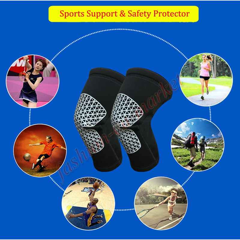 US Elastic Knee Pad Wrap Support Brace Arthritis Injury Sleeve Protector Support 6