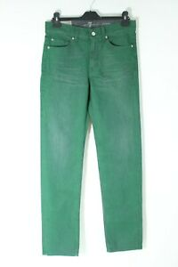7 FOR ALL MANKIND BNWT Vert Slim Fit Coupe Droite Hommes Denim Jeans Taille W30 L34