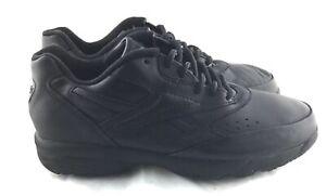 reebok walk dmx dynamax black leather walking shoes