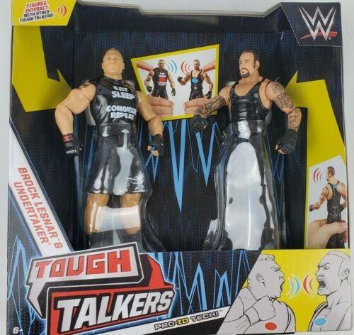 WWE Tough Talkers Brock Lesnar Undertaker set Action Figure