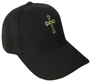 6ec24c3489f Black Christian Cross Religious Baseball Cap Caps Hat Hats God Jesus ...