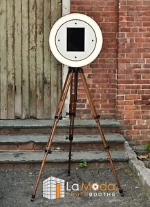 Details about iPad Photo Booth Wood Tripod, led ring light  Gif Booth,  Gifyyy Style