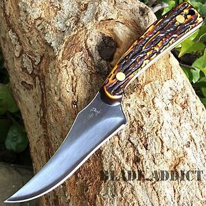 """7"""" STAG TACTICAL SURVIVAL Skinning KNIFE Hunting Skinner Camping Fixed Blade"""