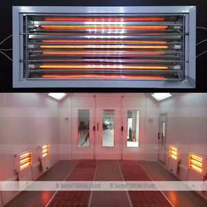 Spray Baking Paint Booth Oven Infrared Curing Lamps