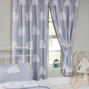 Joyeux Nuages Gris Doublure Rideaux Chambre D\'Enfant 168cm X 183cm ...