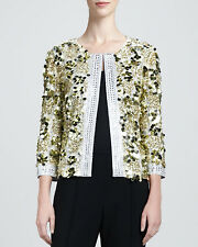 St. John Couture Gold Hand-beaded Sequin Jacket   ( Size 2)