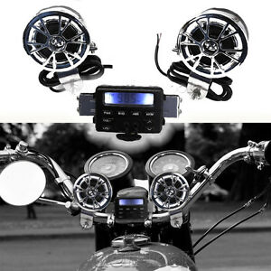 Audio-Radio-Speakers-Stereo-FM-MP3-for-Harley-Sportster-Softail-Fat-Boy-Chopper