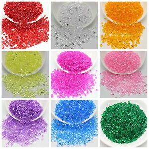 10000 pcs Acrylic Rhinestone Diamond 4mm Confetti Wedding Supplies Table Scatter