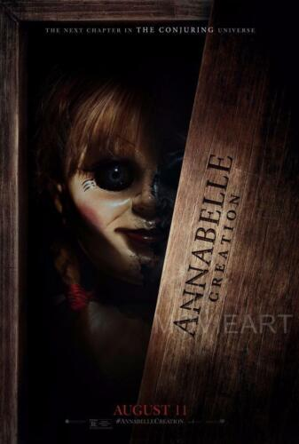 ANNABELLE CREATION HORROR POSTER FILM ART A4 A3 PRINT CINEMA MOVIE