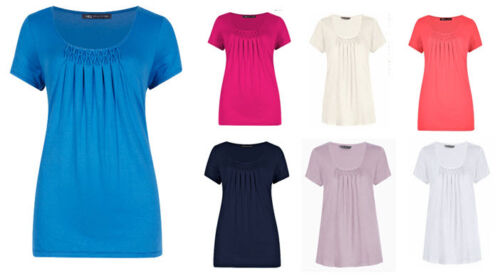 EX M/&S Jersey Stretch T-shirt Top Various Colours  Size 8 10 12 14 16 *NEW*