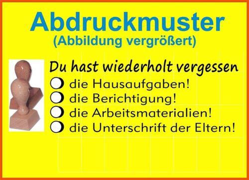 H Stempel Schule Schulstempel  Lehrerstempel  Belobigungsstempel  M 7-7