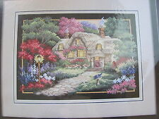 Dimensions Stamped Cross Stitch Craft Kit COBBLESTONE RETREAT #3204 Boehme NIP