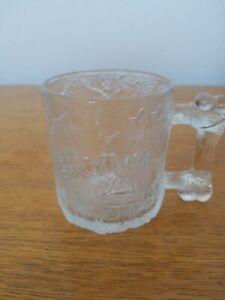 McDonalds Flintstones Rocdonalds 1993 Clear Glass Mug