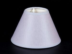 Lampenschirm-Rund-15-cm-silber-rose-Kronleuchter-Tischleuchte-Wandleuchte-e14