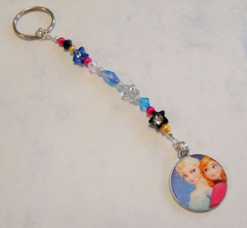 Great gift Elsa,Anna Girl/'s Personalised FROZEN bag charm// keyring Any NAME