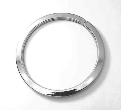 4 Schlüsselringe EXTRA GROSS XXL 53mm Durchmesser Flach Silber glänzend poliert