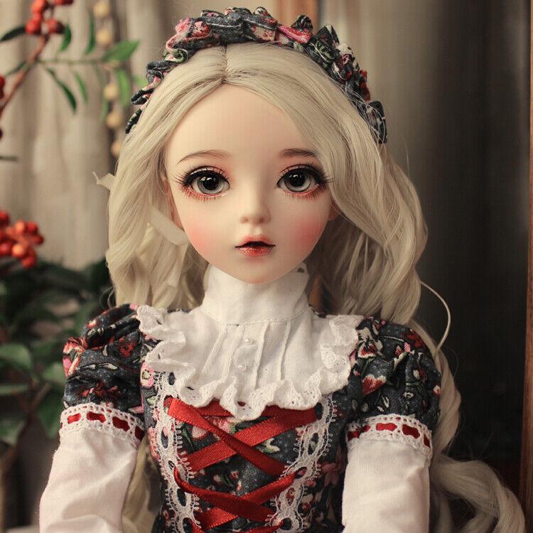 1 3 60cm BJD Doll Girl Puppe + Support Change Eyes + Kleid Kleidung + Perücken