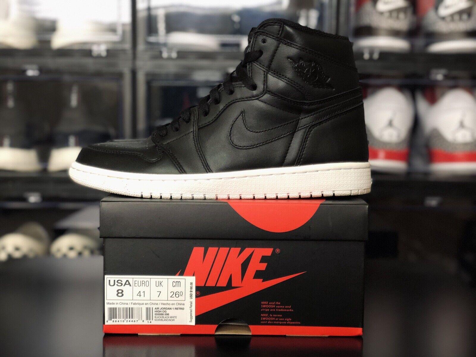 Jordan 1 Retro OG Cyber Monday Size 8 Black White 555088-006 nike supreme mj