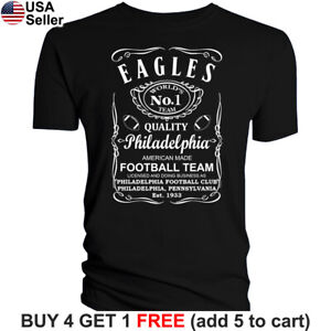 Philadelphia-Eagles-T-Shirt-JD-Whiskey-Graphic-PHI-Men-Cotton-Whisky-Philly