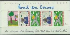 Nederland-plaatfout-postfris-1390PM5-MNH-blok