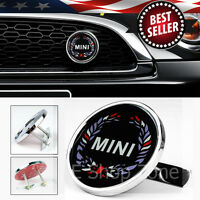 Metal 3 Bolt On Wreath Mini Grill Grille Emblem Badge For Most Mini Cooper