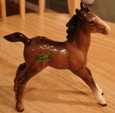 "Beswick Brown Foal Colt Horse Figurine w/Beswick Sticker -- 5"" by  4 3/4"" -Small"