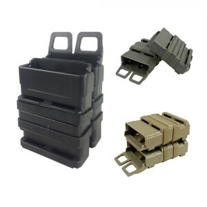 Tactical-MOLLE-Rifle-Mag-Magazine-Pouch-Double-Fast-Attach-System-Holder