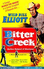 BITTER CREEK 1954 Wild Bill Elliott black & white classic western on Dvd