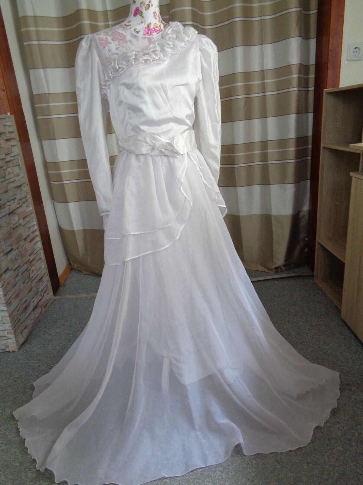 (6)Edles Damen Braut Standesamt Abend Kleid GR: 40