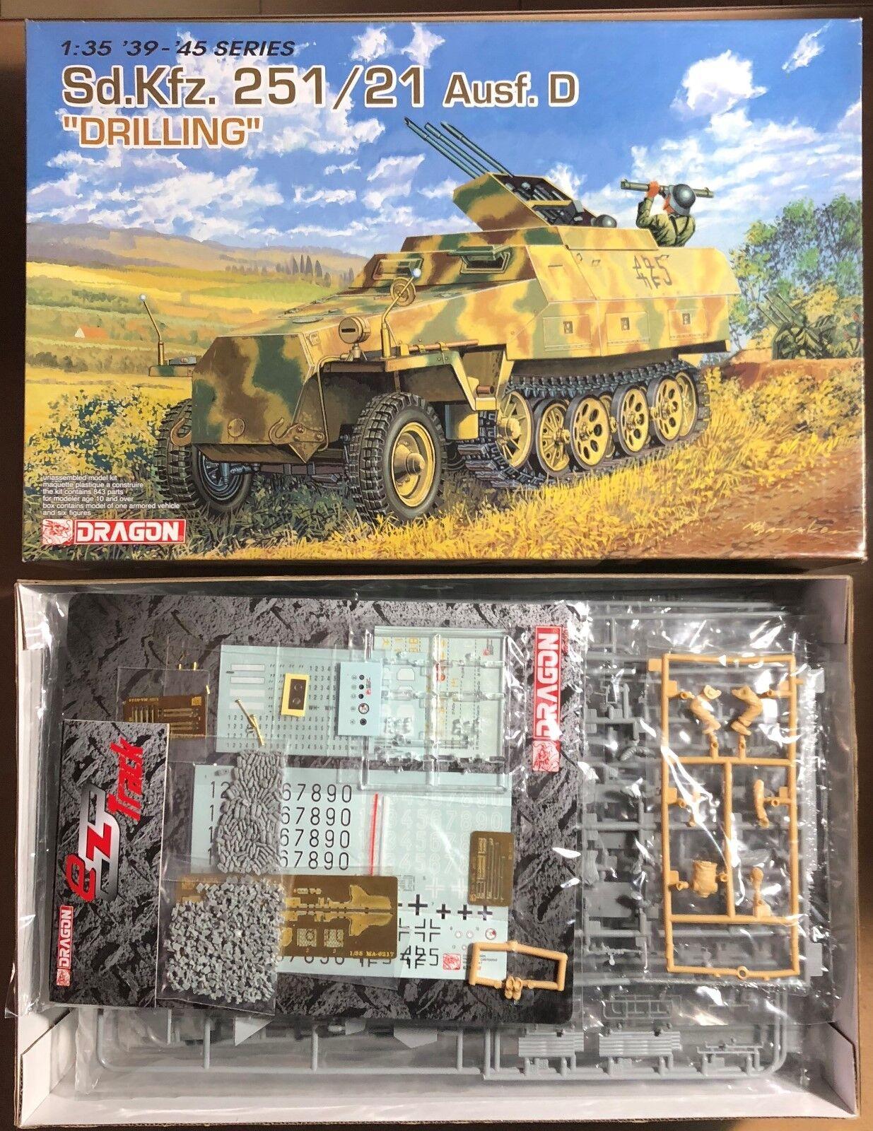 DRAGON 6217 - Sd.Kfz. 251 21 Ausf. D  DRILLING  - 1 35 PLASTIC KIT