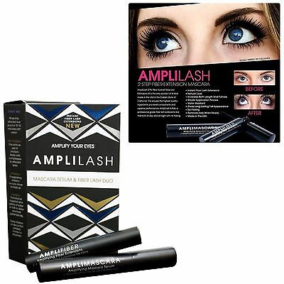 AMPLILASH Instant Fiber Extension Duo (Mascara Serum & Fiber Lash Duo) NIB