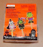 Halloween Foam Activity Kit Stick Puppets Creatology 210pc Makes 20ea Witch 67u