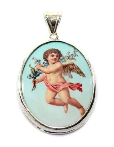 budawi® Heiligenanhänger 925 Silber Maria Jesus Engel Kind Amulett Kirche 58688