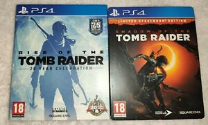 TOMB-RAIDER-STEELBOOK-amp-ARTBOOK-PLAYSTATION-4-NO-GAME-INCLUDED-PS4-RARE