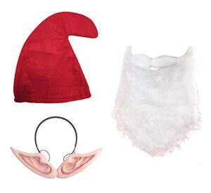 74f37ac5005 Image is loading Big-Ears-Set-Red-Gnome-Hat-Beard-amp-