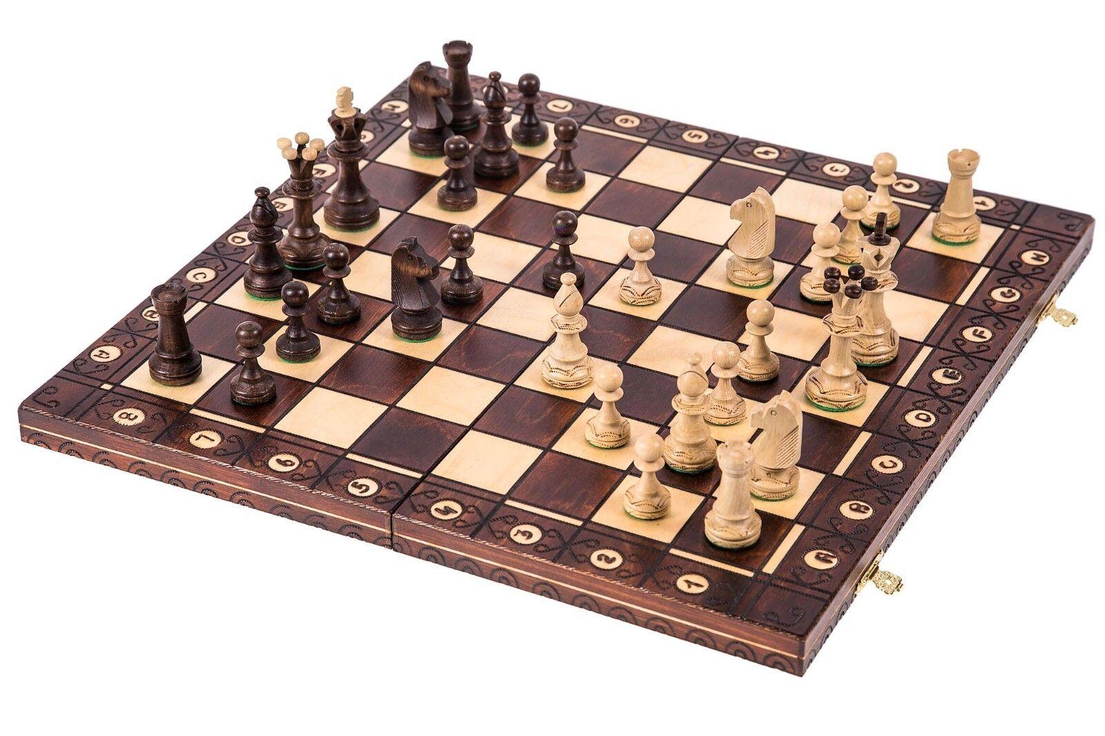 SQUARE - Schach - SENATOR LUX - 41 x 41 cm - Schachspiel und Schachfiguren Holz